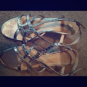 Isola Wedge Strappy Flats